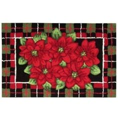 """Nourison Rugs, Holiday Poinsettia 20"""" x 32"""" Accent Rug"""