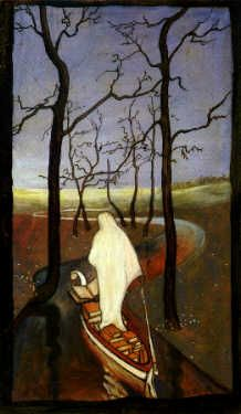 Hugo Simberg - On the stream of life