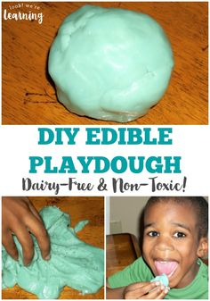 This edible play dough dairy free recipe is perfect for kids who love sensory play but avoid eating dairy! It's super sweet and soft for play! Fun Activities For Kids, Diy Crafts For Kids, Craft Ideas, Dairy Free Recipes, Gourmet Recipes, Vegan Recipes, Sands Recipe, Porcini Mushrooms, Sensory Play