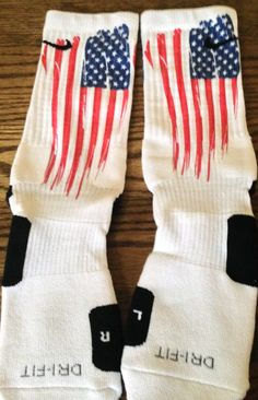 Old Glory USA Flag Nike Elite Socks by DopeSocksAndStuff on Etsy, $19.99