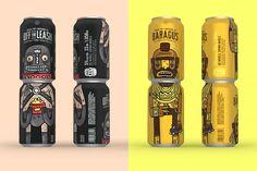 Como resistir à latinhas como essas? Super coloridas, ilustradas por personagens divertidos e que ainda por cima funcionam empilhadas? Essa é uma linha desenvolvida pelo estúdioMagnificent Beardpara a cervejaria Noble Rey Beer e foram desenhadas...