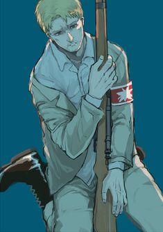 Anime Manga, Anime Art, Anime Boys, Reiner Snk, Attack On Titan Meme, Adventure Time Marceline, Another Anime, Mood Pics, Manga Games
