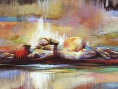 "Original Oil by Tim Parker of Art2D gallery ""Repose"""