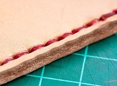 Hand sewing your leather projects! How to get started.  Check out www.highonglue.com