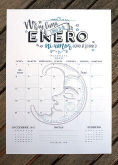 Calendario 2018 gratis para imprimir de PLATELIA Descárgalo y a disfrutarlo!