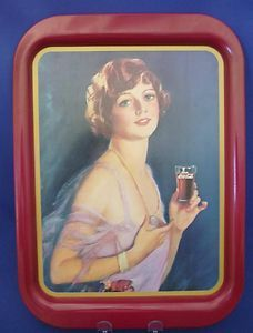 (1974) coca cola 1927 limited edition calendar girl tray. Not worth much, not from the fifties but its in my collection.