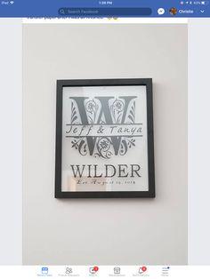 Cricut Wedding, Ipad 1, Frame, Decor, Dekoration, Decoration, Frames, A Frame