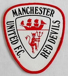 Vintage United logo Manchester United Poster, Manchester United Football, Ipswich Town, Football Fever, Football Casuals, Go Blue, Man United, Juventus Logo, Liverpool