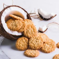 Toasted Coconut Cookies | Copycat for Mrs. Thinsters Cookie Thins