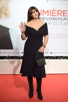 Monica Bellucci attends the 8th Film Festival Lumiere In Lyon : Opening Ceremony on October 8, 2016 in Lyon, France.