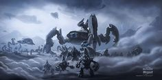 Halo concept art by various bungie artists