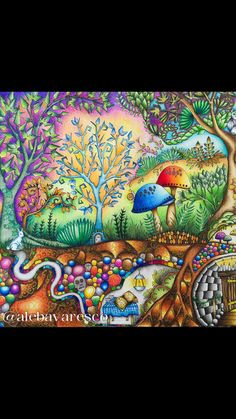 Enchanted forest - polychromos --> If you're looking for the top coloring books and writing utensils including gel pens, watercolors, drawing markers and colored pencils, check out our website at http://ColoringToolkit.com. Color... Relax... Chill.
