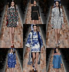 Valentino. Oh my gosh, I lovey these dresses! Doesn't get any better than that black floral dress with white cuffs and collar.