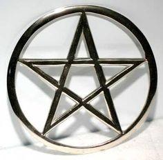 "Cut-out Pentagram Altar Tile 5 3-4"""