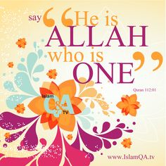 "Say, ""He is #Allah, [who is] One, -- #Quran 112:01"