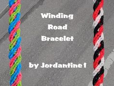 New Winding Road Bracelet - Rainbow Loom or Monster Tail - Crossing Fishtail - YouTube