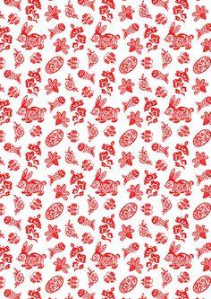 Chinese papercuts scrapbook paper