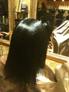 The back of the client's hair before my Action Extension