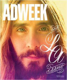 Ad Week: Den absoluten Gegenentwurf zum diabolischen Stephen King zeigt Ad Week. Zum Themenschwerpunkt Los Angeles des US-Werberblattes blickt ein freundlich/verträumter Jared Leto den Leser an.