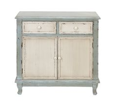 Prades 2 Drawer and 2 Door Farmhouse Accent Cabinet