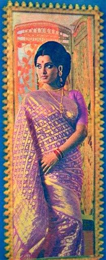 Rekha Putple Kanchipuram Saree is hot and so is she