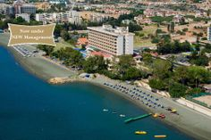 Aerial View of the Poseidonia Beach Hotel in Limassol Cyprus. Now under a NEW Management !