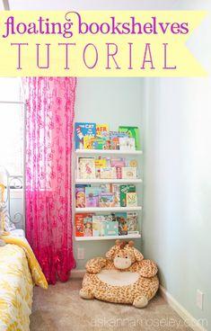 Floating bookshelves tutorial - Ask Anna