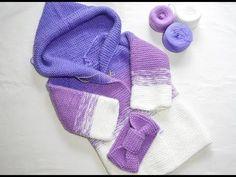 Как связать детский кардиган спицами. Пальто спицами. Вяжем детям. Вязание. Вязание спицами - YouTube Knitting For Kids, Crochet For Kids, Baby Knitting, Crochet Baby, Knit Crochet, Knitting Designs, Knitting Patterns, Diy Crochet Bikini, Crochet Jacket Pattern