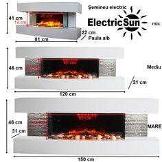 Semineu electric 3D ElectricSun Paula alb mic mediu Mare 3 Modern Electric Fireplace, Wall Mounted Electric Fires, Led Technology, Decorative Plates, House Design, Paula White, 3d, Home Decor, Loft