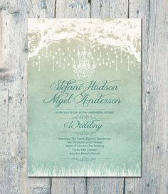 I Wish I Could Find Save-The-Dates To Match! Royal Winter by WeddingSundaeShop