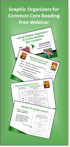 Would you like to learn how to use graphic organizers to create reading lessons based on Common Core Standards? Watch this free webinar recording to discover just how easy it is!
