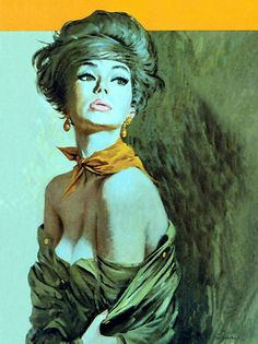 Robert McGinnis (born is an American artist and illustrator. Robert Mcginnis, Pulp Fiction Art, Pulp Art, Comics Vintage, Vintage Art, Vintage Images, Book Cover Art, Book Covers, Arte Pop