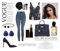 """021"" by angelinalanga ❤ liked on Polyvore featuring Topshop, Marc Jacobs, Hermès, Jimmy Choo, Chanel, David Yurman, Chico's and Illamasqua"