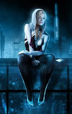 #Spider #Gwen #Fan #Art. (Spider Gwen) By: BossLogic. (THE * 5 * STÅR * ÅWARD * OF: * AW YEAH, IT'S MAJOR ÅWESOMENESS!!!™)[THANK Ü 4 PINNING!!!<·><]<©>ÅÅÅ+(OB4E)