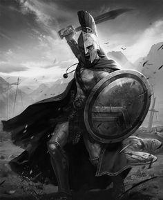 Greek Warrior, Angel Warrior, Tattoo Guerreiro, Spartan Tattoo, Art Psychology, Knight Tattoo, Art Of Fighting, Spartan Warrior, Warrior Tattoos