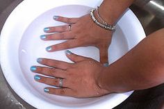 Dry Nail Polish Quickly - run cold water in a bowl then put your nails in for 3 -5 minutes. Nails will be dry