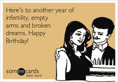 Why some infertiles don't celebrate their birthdays anymore.