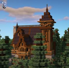 Minecraft Medieval House, Cute Minecraft Houses, Minecraft House Designs, Amazing Minecraft, Minecraft Creations, Minecraft Crafts, Minecraft Buildings, Minecraft Images, Minecraft Plans