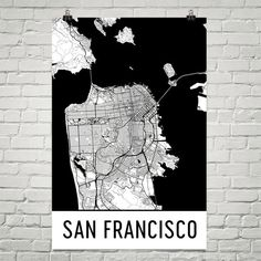 San Francisco Map San Francisco Print San by ModernMapArt on Etsy
