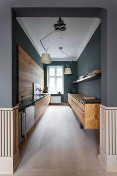 Küchenideen kleine Küche planen Holzboden | Küche Möbel - Küchen ... | {Küchenideen 33}