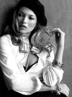 Kate Moss by Peter Lindbergh for David Yurman Spring 2011 Parisienne Chic, Ella Moss, Black White Photos, Black And White, White Style, Portrait Photography, Fashion Photography, Moss Fashion, Fashion Shoot