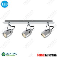 3 Light Tolosa Chrome LED Adjustable Wall / Ceiling Spotlight -  Lighting Illusions OnlineTV ROOM  - Led Ceiling Spotlights, Ceiling Lights, Bar Lighting, Track Lighting, Lighting Solutions, Light Fittings, Illusions, Bar Dimensions, Chrome