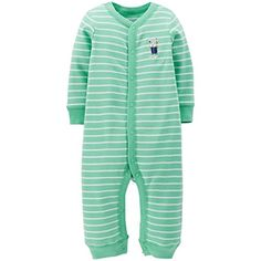 Carters Baby Boys Striped Romper Baby  Dog  6 Months *** Learn more by visiting the image link. (This is an affiliate link)