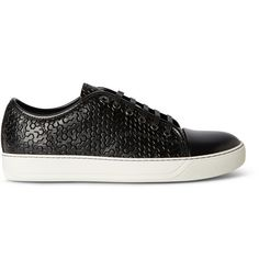 Lanvin Embossed Leather Sneakers | MR PORTER