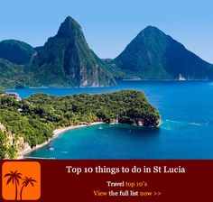 Top 10 Things to do in St Lucia. With a fascinating colonial heritage as well as some awesome sure-fire ways to get your adrenaline pumping, St Lucia is one of the most active Caribbean Islands in more ways than one. Vacation Destinations, Dream Vacations, Vacation Spots, Christmas Destinations, Dream Trips, Oh The Places You'll Go, Places To Travel, Places To Visit, Santa Lucia