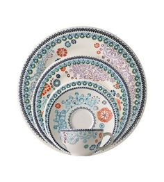 Gien Sultana - daughter's place settings, love colors and details of design