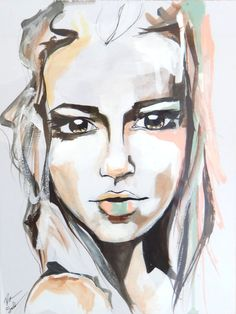Kate watercolor portrait art print by RikkiSneddonArt on Etsy, $22.00 #art #artwork #portrait