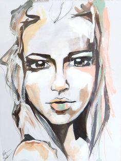 Kate watercolor portrait art print by RikkiSneddonArt on Etsy, $22.00 #art #artwork #portrait