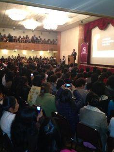 Hoy también hubo mucho interés en la conferencia acerca de Seguridad Ciudadana en La Paz.