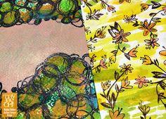 painterly postcards- Hayley Holden weekly sketchbook series at www.hayjayoh.wordpress.com